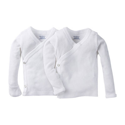 Gerber 2-pk. Long Sleeve Shirt With Side Snap - Unisex Baby