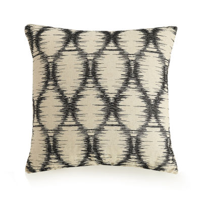 Ayesha Curry Natural Instincts Embroidered Ogee Square Throw Pillow