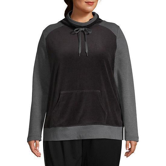 St. John's Bay Active Velour Pullover Jacket - Plus