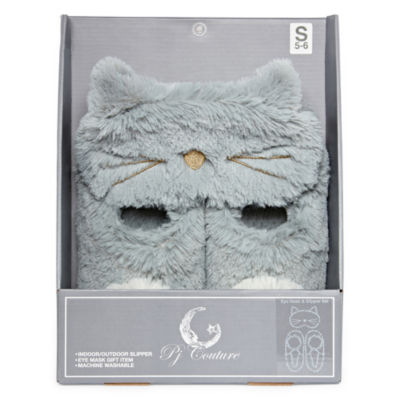 Pj Couture Boxed Slip-On Slippers with Eyemask