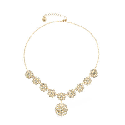Monet Jewelry Womens Clear Y Necklace