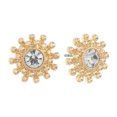 Monet Jewelry Clear 13.5mm Stud Earrings