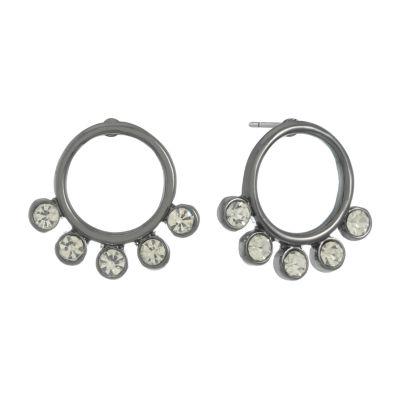 Liz Claiborne White 19mm Hoop Earrings
