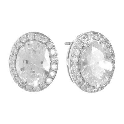 Monet Jewelry Cubic Zirconia 11.5mm Stud Earrings