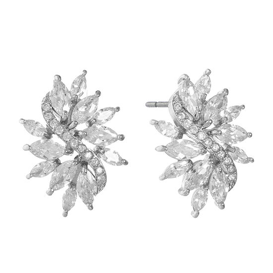 Monet Jewelry Cubic Zirconia 26.7mm Stud Earrings
