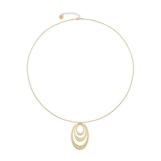 Liz Claiborne 26 Inch Snake Pendant Necklace