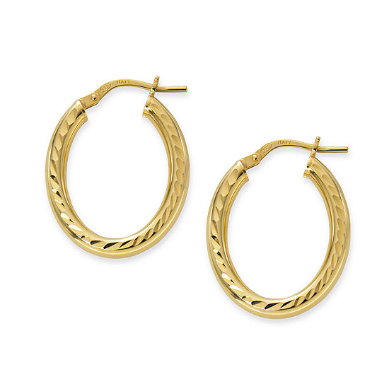Made in Italy 24K Gold Over Silver Sterling Silver 22mm Hoop Earrings