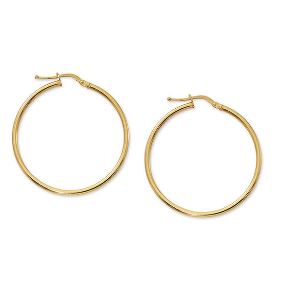 Made in Italy 24K Gold Over Silver Sterling Silver 32mm Hoop Earrings