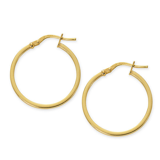 Made in Italy 24K Gold Over Silver Sterling Silver 24mm Hoop Earrings