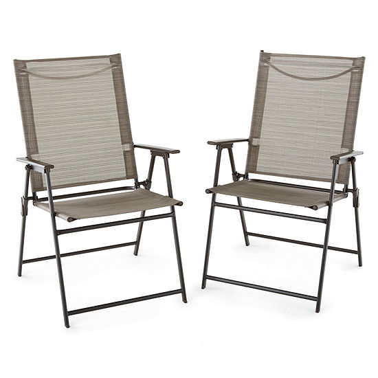 Outdoor Oasis Melbourne 2-pc. Sling Folding Chair