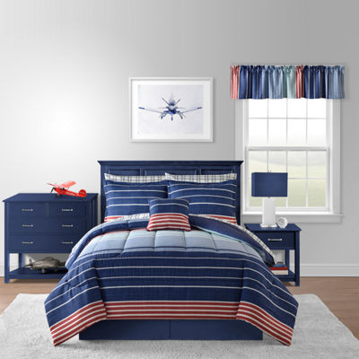 Portland Stripes Complete Bedding Set with Sheets