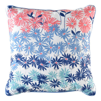 Daisy Square Throw Pillow