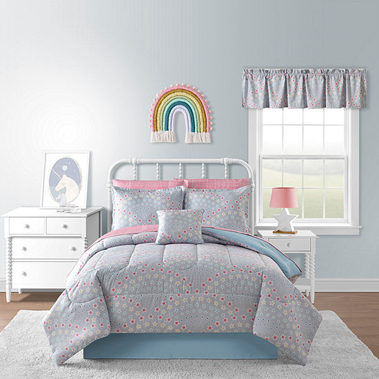 Rainbow Stars Geometric Complete Bedding Set With Sheets