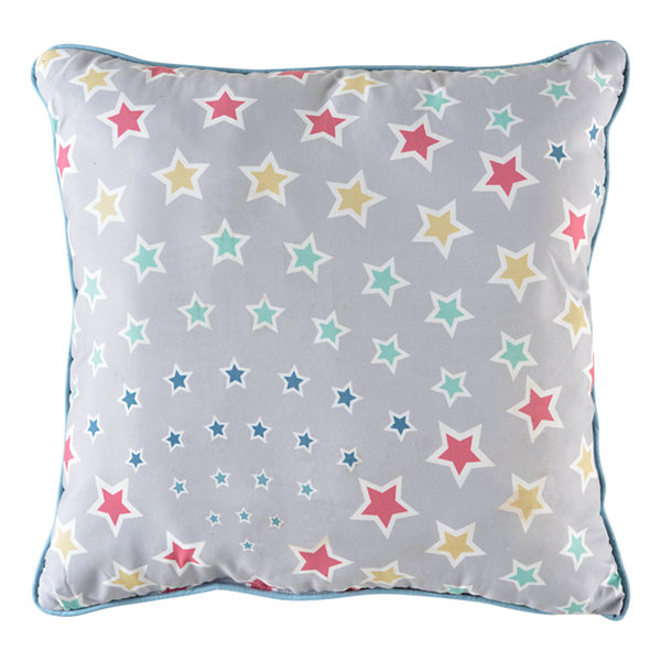 Rainbow Stars Square Throw Pillow