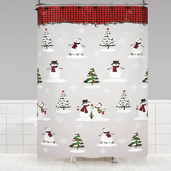 Saturday Knight Holiday Woodland Winter Shower Curtain