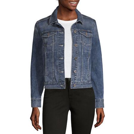 Liz Claiborne Denim Jacket, Large , Blue