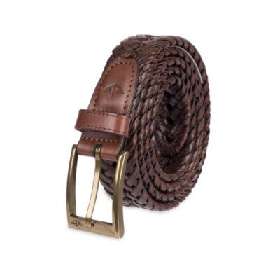 Dockers® Brown Leather V-Weave Belt – Big & Tall