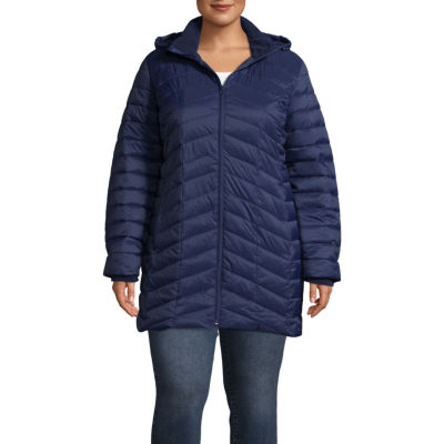 Xersion Woven Lightweight Puffer Jacket-Plus
