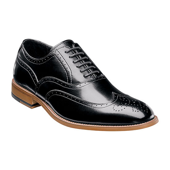 Stacy Adams Mens Dunbar Oxford Shoes Wing Tip Wide Width