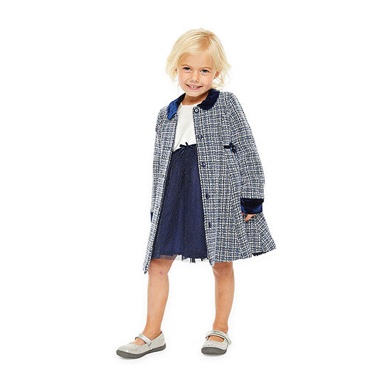 Nanette Baby Girls 2-pc. Jacket Dress - Toddler
