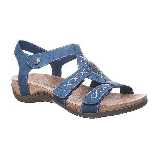 Bearpaw Womens Ridley Adjustable Strap Flat Sandals