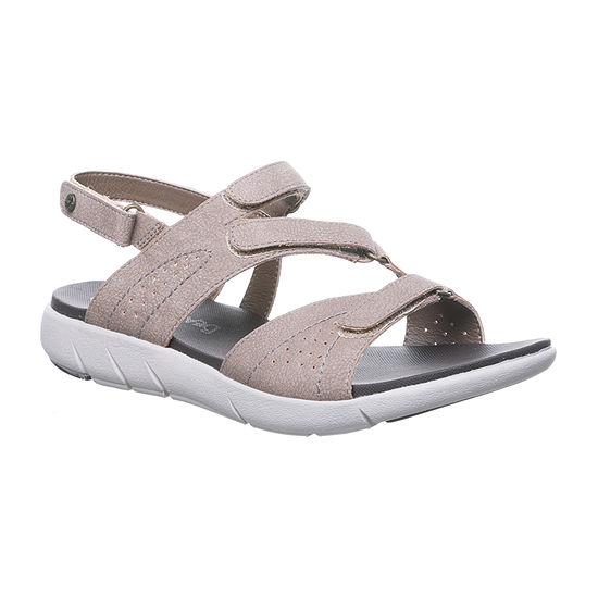 Bearpaw Womens Reed Adjustable Strap Flat Sandals