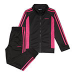 adidas Little Girls 2-pc. Logo Track Suit