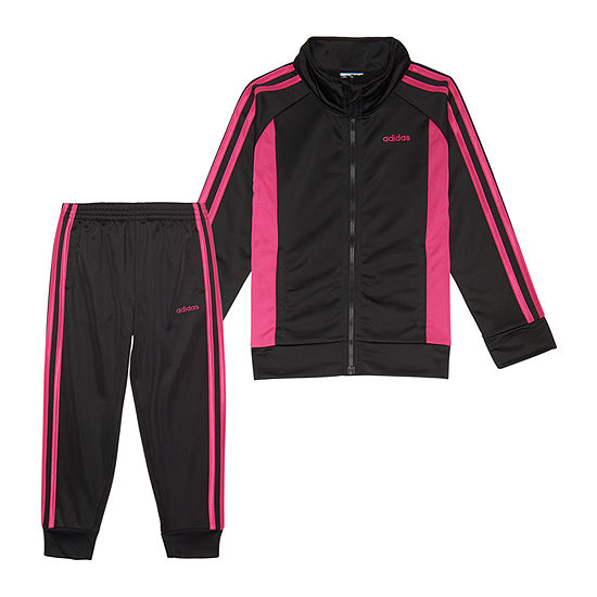 adidas Little Kid Girls 2-pc. Logo Track Suit