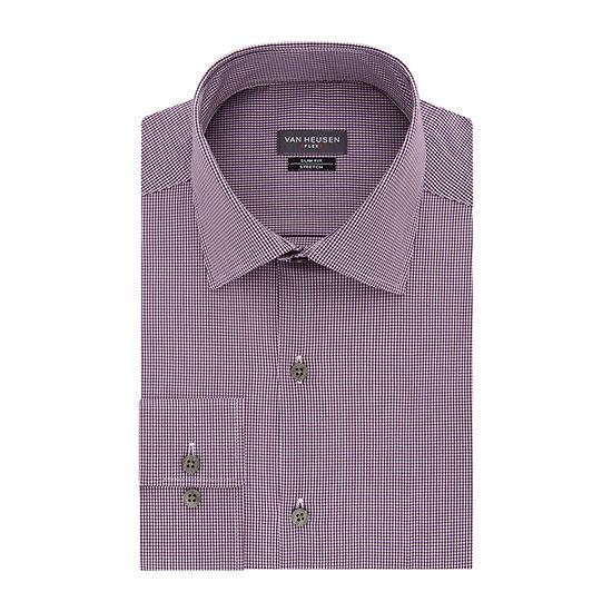 Van Heusen Mens Flex Collar Slim Fit Stretch Long Sleeve Dress Shirt