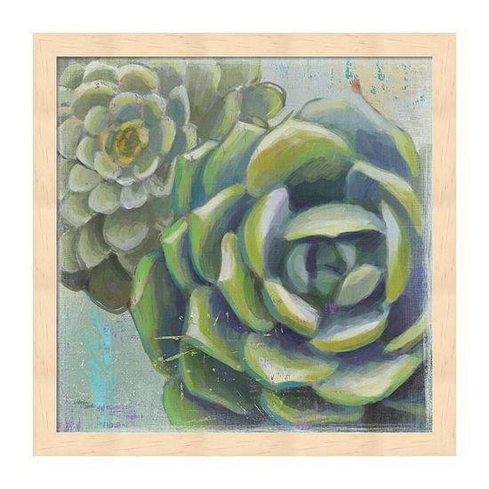 Metaverse Art Succulents Ii Crop Framed Floral Print