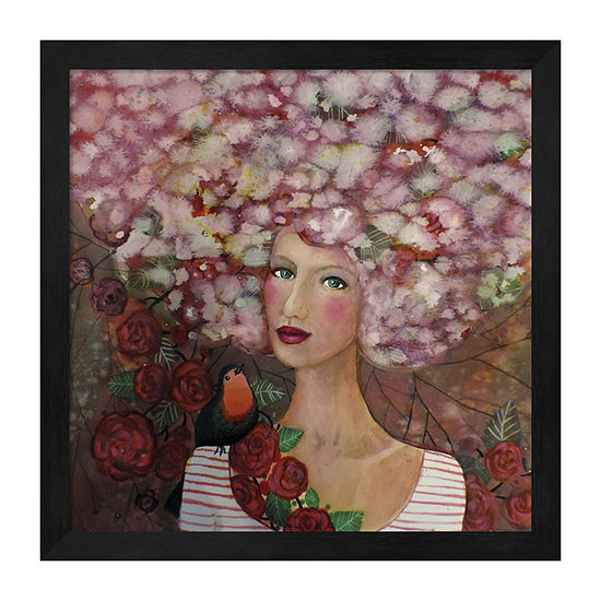 Metaverse Art Delphine Framed Print