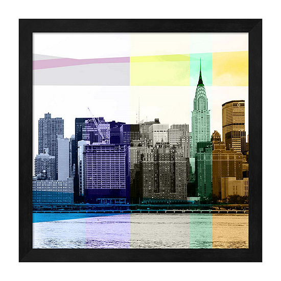 Metaverse Art Heart Of A City Ii Framed Scenic + Landscape Print