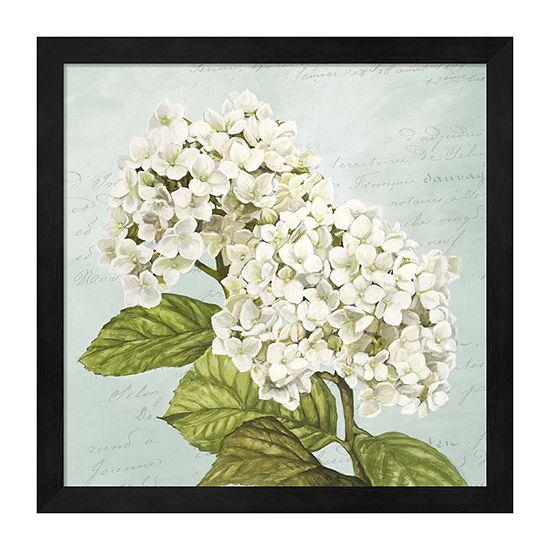 Metaverse Art Hydrangeas Iii (Aqua) Framed Floral Print