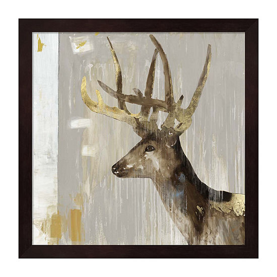 Metaverse Art Stag I Framed Animals + Insects Print