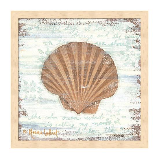 Metaverse Art Ocean Scallop Framed Beach + Nautical Print