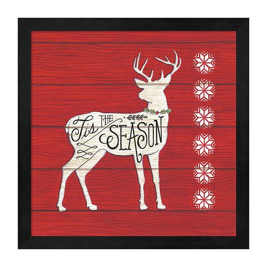 Metaverse Art Tis The Season Deer Framed Print