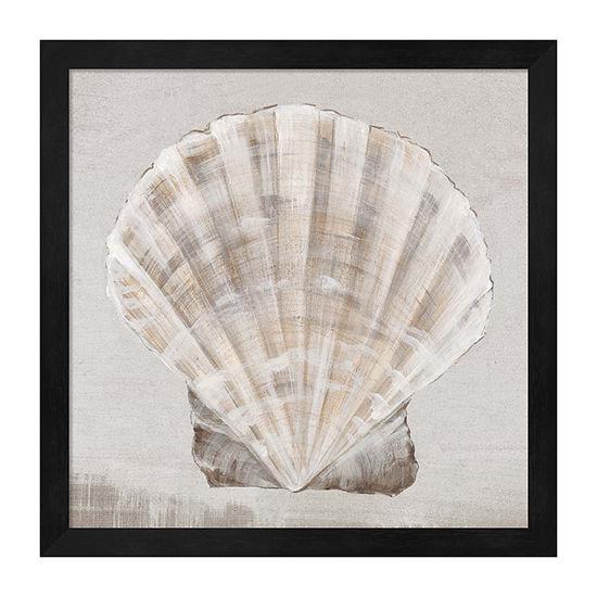 Metaverse Art Neutral Shells Ii Framed Beach + Nautical Print