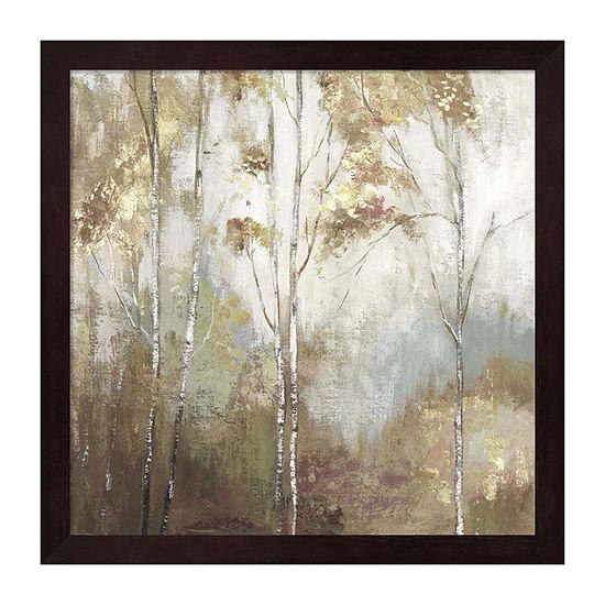 Metaverse Art Fine Birch Ii Framed Trees + Leaves Print