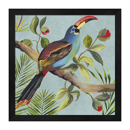 Metaverse Art Paradise Toucan I Framed Animals + Insects Print