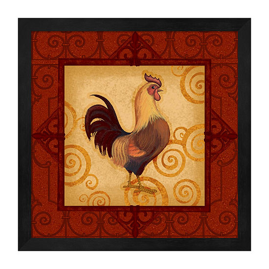 Metaverse Art Decorative Rooster I Framed Animals + Insects Print