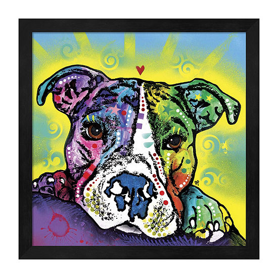 Metaverse Art The Baby Pit Bull Framed Animals + Insects Print