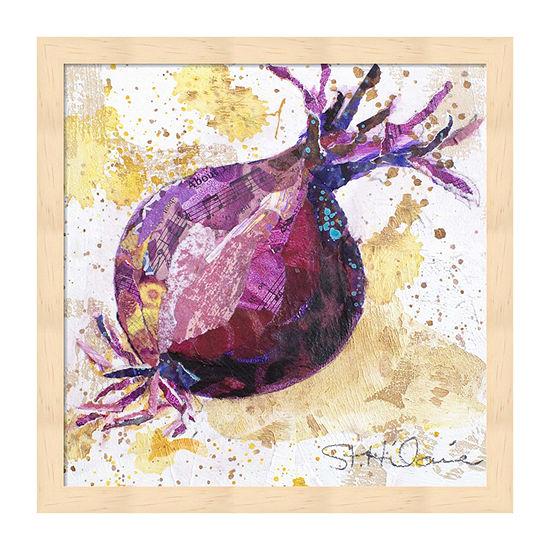 Metaverse Art Veggie Splash Ii Framed Food + Drink Print