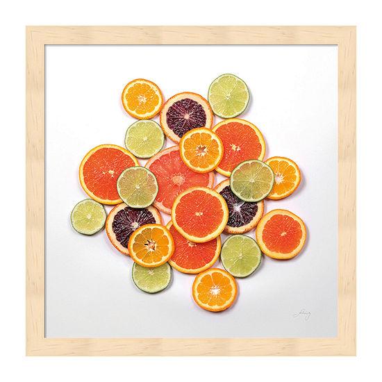 Metaverse Art Sunny Citrus I Crop Framed Food + Drink Print