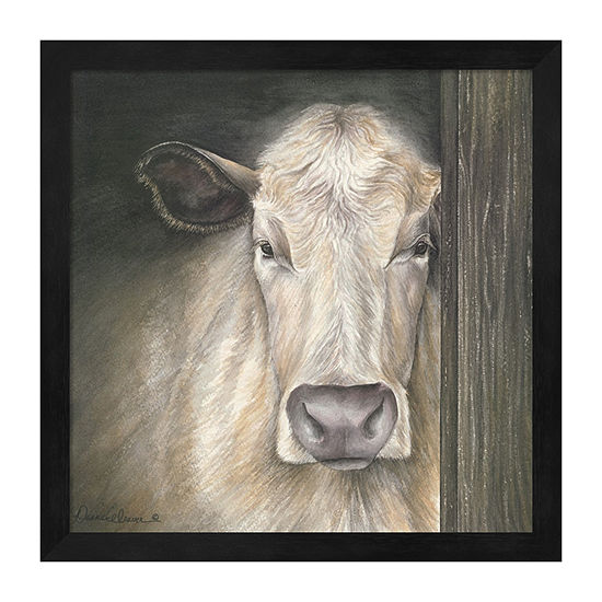 Metaverse Art Farm Animal - Cow Framed Animals + Insects Print