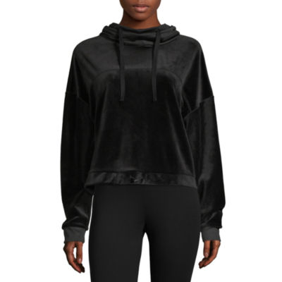 Flirtitude Womens Long Sleeve Velour Hoodie - Juniors