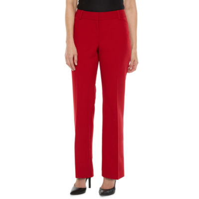 Worthington Womens Straight Leg Perfect Trouser