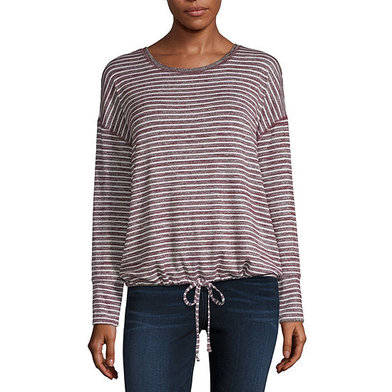 a.n.a Womens Round Neck Long Sleeve Top