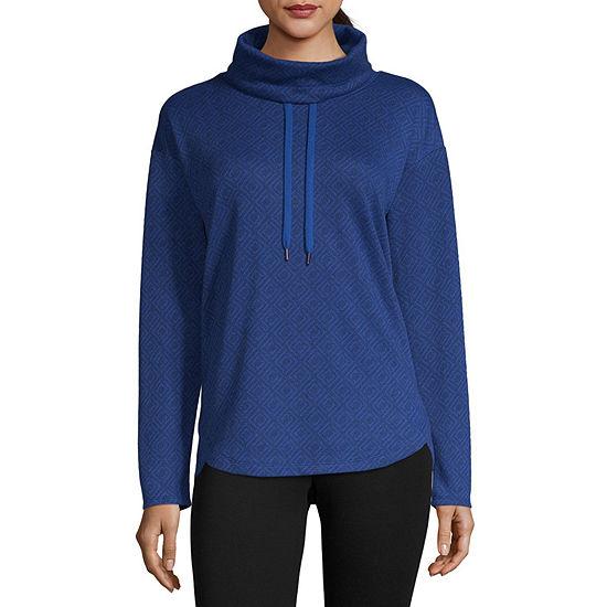 Liz Claiborne Weekend Womens Cowl Neck Long Sleeve Sweatshirt