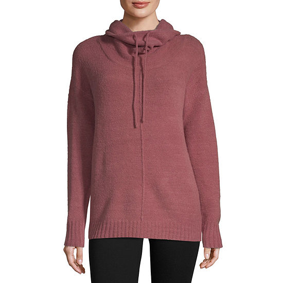 Liz Claiborne Weekend Womens High Neck Long Sleeve Pullover Sweater