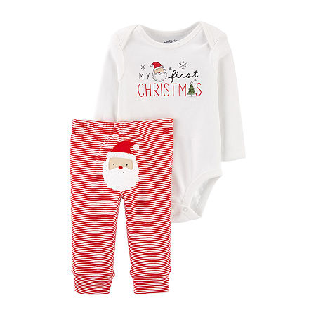 Carter's First Christmas Baby Girls 2-pc. Pant Set, 18 Months , White